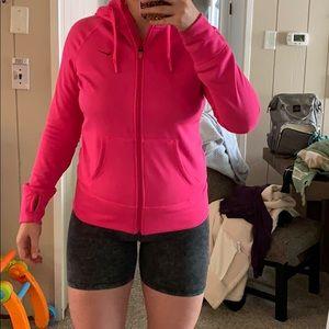 Pink Therma Fit Nike Zip Up Hoodie